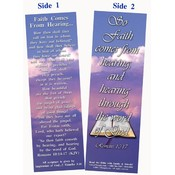 Bookmark - Faith Comes From Hearing - Pack of 25
