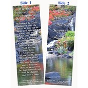 Bookmark-He That Believes &amp;amp; Is Baptized-Pack of 25