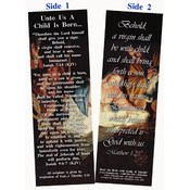 Christmas Bookmark - Unto Us A Child Is Born