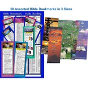 Bible Bookmark Assortment - Pack of 50 in 3 sizes