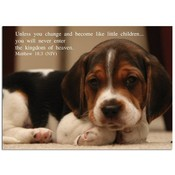 "Become Like Children - Beagle Puppy - 5"" X 7"" Card"