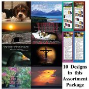 "Assorted Pack of 10 Inspirational Cards - 5"" X 7"""