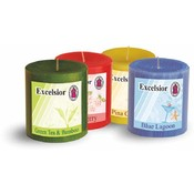 Excelsior Pillar Candle 3' Blue Lagoon Wholesale Bulk