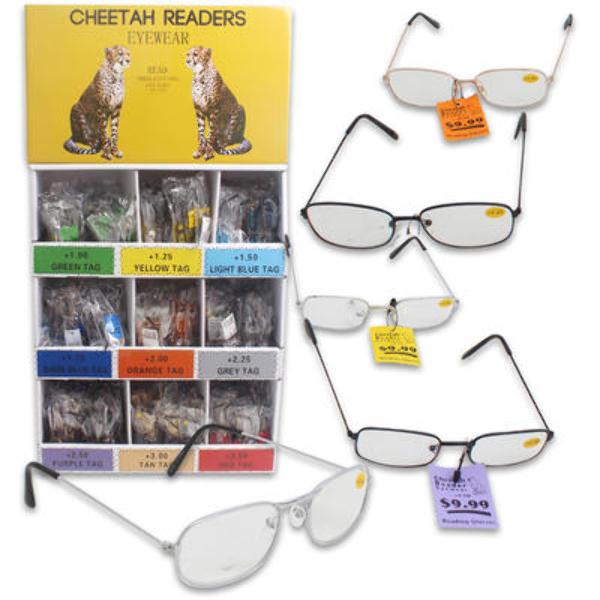 wholesale cheetah reading glasses display sku 2182642
