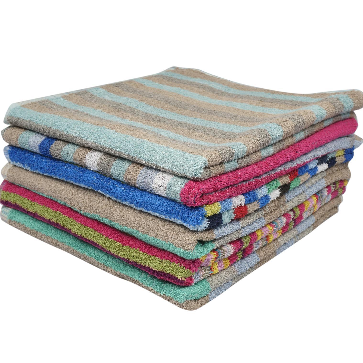 Wholesale Striped Bath Towel (SKU 2332468) DollarDays