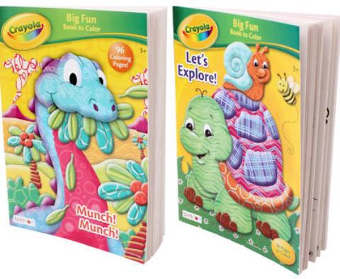 Wholesale Crayola Big Fun Book Coloring Book Sku 1994707 Dollardays