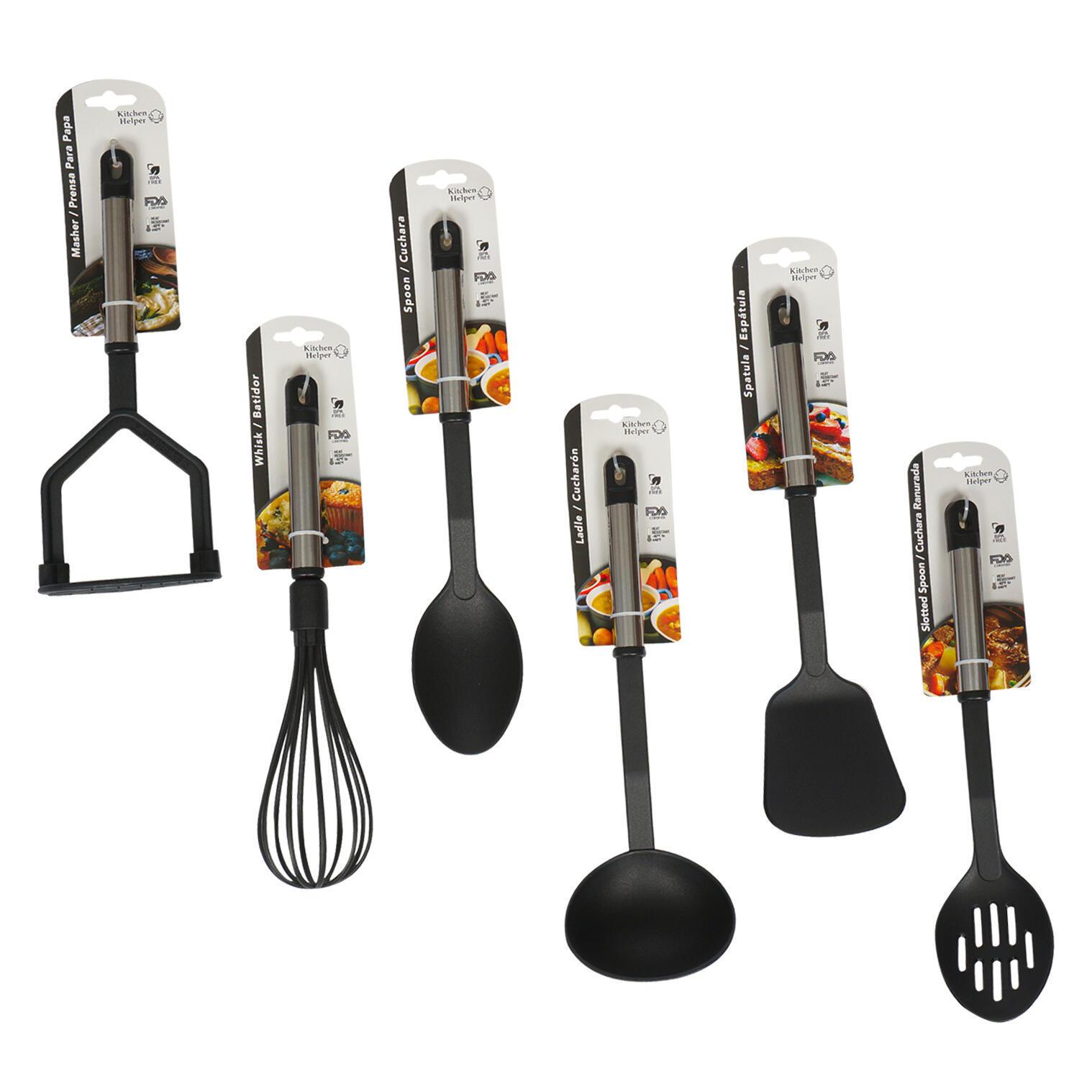 Aluminum & Plastic Kitchen TOOLS Assortment - Black [2349882]