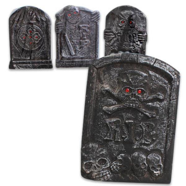 HALLOWEEN Foam Tombstone with Skulls [1994781]