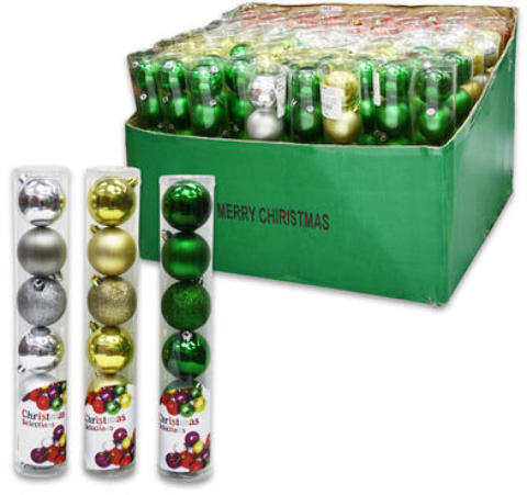 CHRISTMAS Ball Ornament 9/Pack - Assorted (2010122)