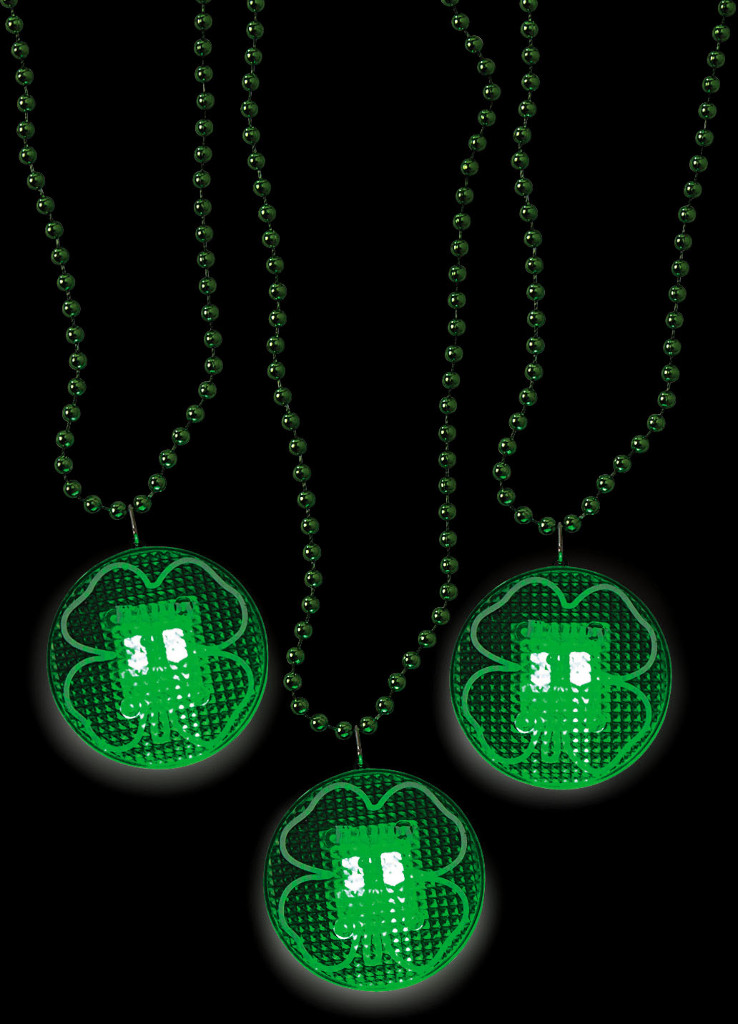 wholesale light up shamrock necklaces sku 2132736 dollardays. Black Bedroom Furniture Sets. Home Design Ideas
