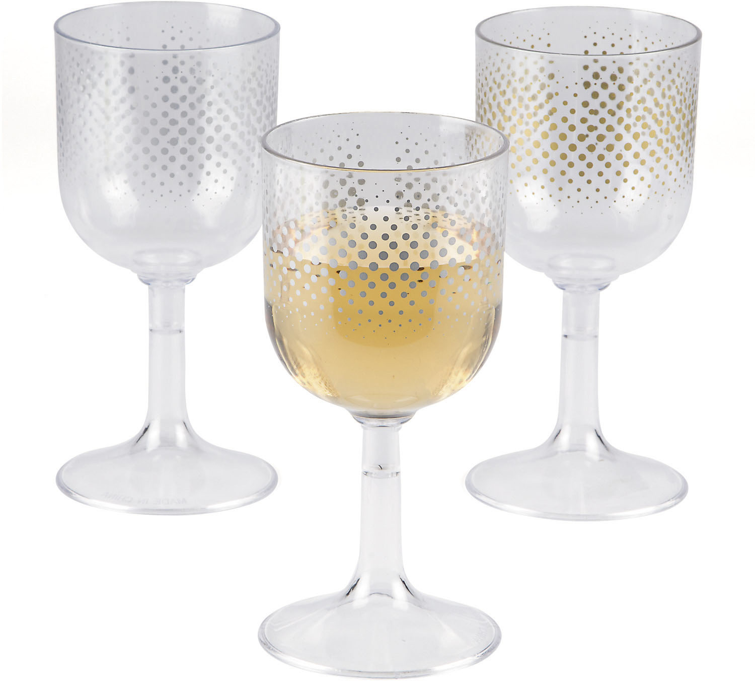 wholesale enchanted christmas wine glasses 6pc sku