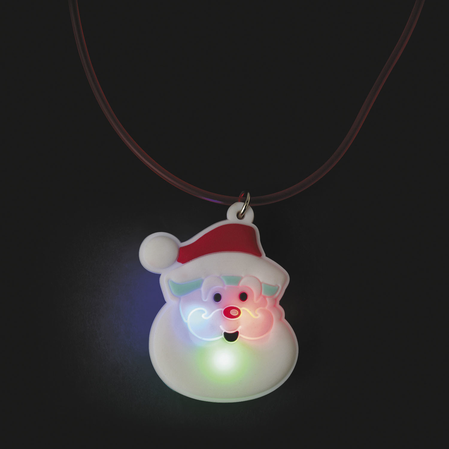 wholesale santa light up necklace sku 2277918 dollardays. Black Bedroom Furniture Sets. Home Design Ideas