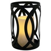 Candle Holder w/ Flameless Candle- Black