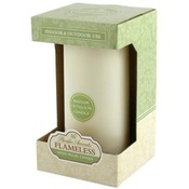 3x6 Flameless Indoor/Outdoor Ivory Pillar Candle