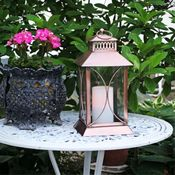Lantern w/ Flameless Candle - Copper