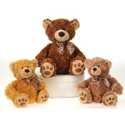11&quot; 3 Assorted Color Sitting Plush Bears