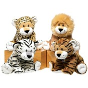 "9.5"" 4  Asst. Bean Bag Jungle Animals"