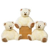 "8"" Siting Cream Colored Bears"