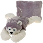 18' Husky Dog Peek-A-Boo Pillow Wholesale Bulk