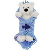"Blanket Babies-11"" Polar Bear In Baby Blanket"