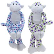 "15.5"" 4 Assorted Polka Dot Monkeys"