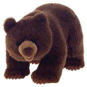 "17"" L Standing  Brown Bear"