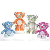 "Hennatude- 16"" 4 Assorted Color Bradley Bear"
