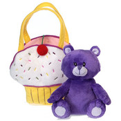 "Fiestalicious - 6"" Sitting Purple Bear"