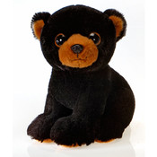 "Belus - 9"" Big Eye Sitting Blk Bear"