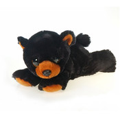 "9"" Big Eye Laydown Beanie Blk Bear"