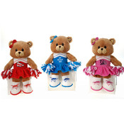 "12"" Bear In 3 Asst. Cheerleader Outfit -"