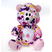 "Fiesta Sweets - 10"" Pink N' Purple Candy-Bear"