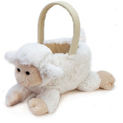 "12.5"" Plush Lamb Basket"