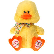 "11"" Sitting Duck W/Easter Egg Trim -"