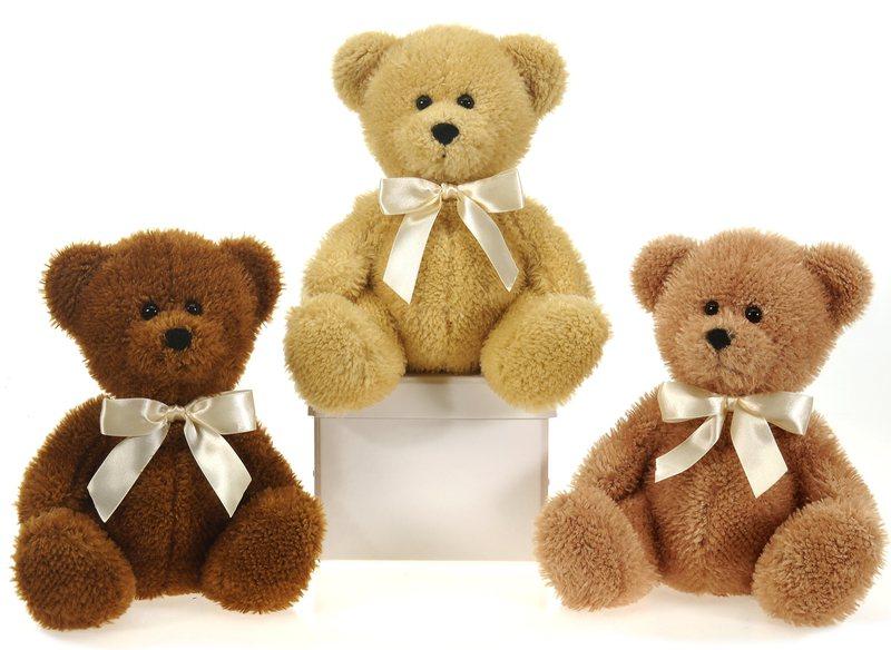 "Wholesale 9"" 3 Assorted Color Sitting Bulk Bears W/Ribbon ..."