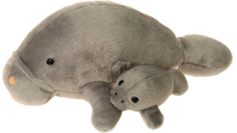''11'''' Mama Manatee & BABY with Picture Hangtag [1947653]''