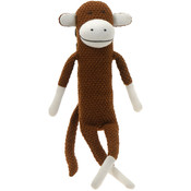 "17"" Paul Frank Brown Crochet Knitted Monkey"