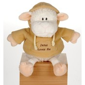 "7"" Lamb With Jesus Loves Me Sweat Shirt"