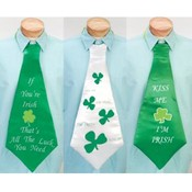 29' 3 Assorted St. Patrick's Day Neck Tie Wholesale Bulk
