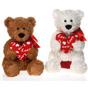 "15"" 2 Asst. Sitting Bears Holding ""Love"""
