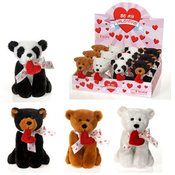 "6.5"" 4 Asst. Bb Animals W/Heart In"