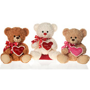 14&quot; 3 Asst. Sitting Bears W/&quot;Love You&quot;