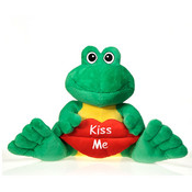 "10"" Sitting Frog Holding "" Kiss Me"" Lip"