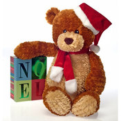 "21"" Xmas Bear - Brown W/Tan Trim"