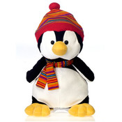 "11"" Penguin W/Hat & Scarf"