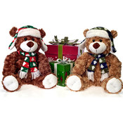 13&quot; 2 Asst. Bears In Lumberjack Hat -