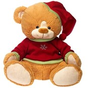 "15"" Sitting Brown Color Bear W/ Xmas"
