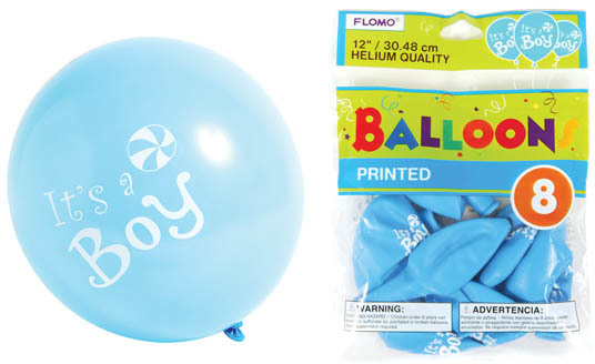 ''12 in. ''''It's a Boy'''' Printed BALLOONs [1882681]''