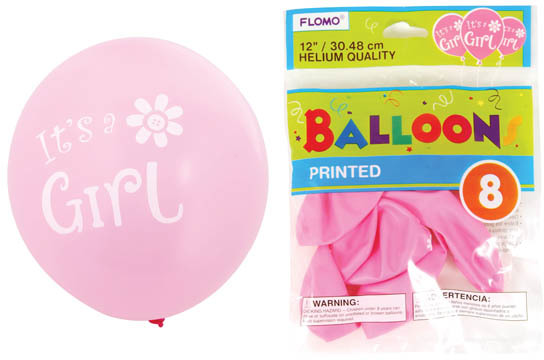 ''12 in. ''''It's a Girl'''' Printed BALLOONs [1882682]''