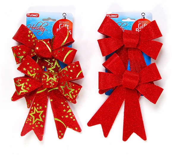 2 count CHRISTMAS Glitter CHRISTMAS Bows [2127593]